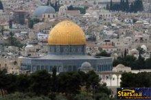 שער עוצמתי מעל ירושלים